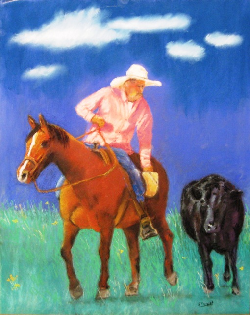 "Cowboy and the Cow 16""X20"""