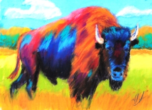 Nancys Buffalo study 5x7