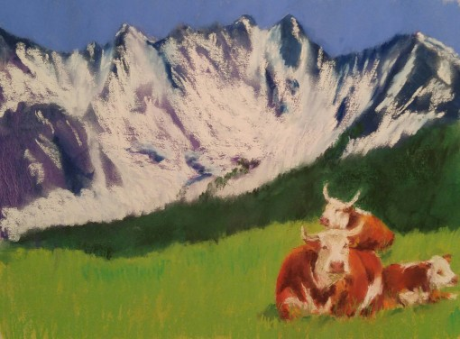 Potter Cows at Heath's 2015 a 9x12